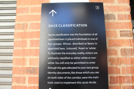 Race Classification Apartheid Museum